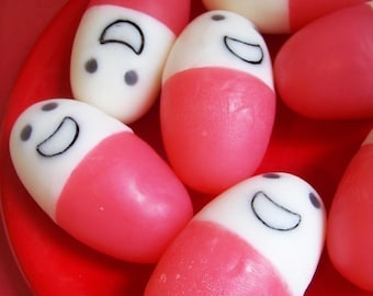 Happy Pill Soap Set - Chill Pill Soap, Cherry Soap, Get Well Soon, Gag Gift, Funny Soap, Medicine Soap, Nurse Gift, Doctor Gift, RX Soap