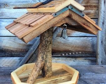 Unique Barnwood Bird Feeder Gift Recycled Reclaimed Wedding Gift y #1487