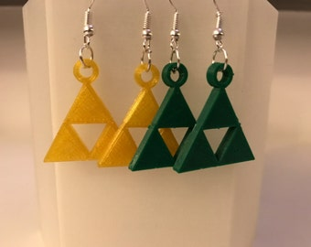 Zelda triforce earrings