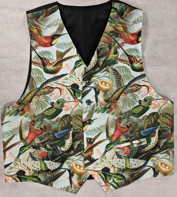 Men's Vest, Waistcoat, Tentacle, spear, gem, unique, one of a kind, Norse, Stand Out, 1 only, Sizes small to 3XL