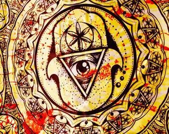 Beyond The Hamsa Mandala Sacred Geometry Tapestry