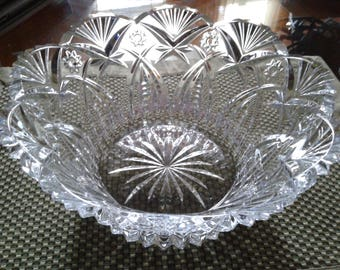 Vintage Deep Cut Crystal Bowl