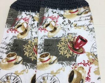 Coffee Print Towel set  of 2