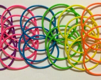 Set of 24 neon jelly bracelets