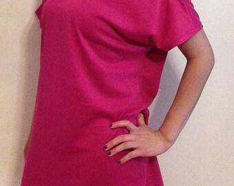 Cold Shoulder T-Shirt Dress
