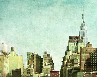 New Yorker Hotel, Photography, Empire State Building, New York City, Water Tower, NYC, Skyline, FREE SHIPPING!
