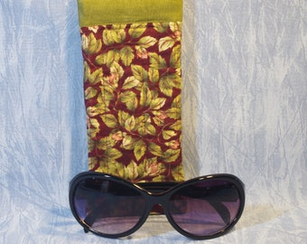 Quilted Eyeglass Case in Burgundy