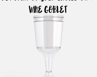 Wine Goblet  chose the design from my prints collection or have me make one for you, customize your own unique gift