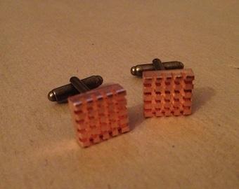 Copper Heatsink Cufflinks, Raspberry Pi