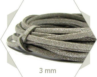 1 m cord suede 3mm silver CS22 dain appearance