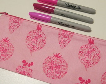 Pencil case/pouch in cute pink Peter Rabbit fabric