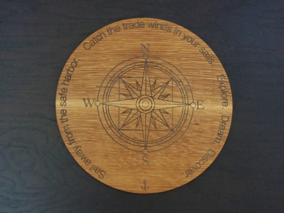 Engraved Nautical Cutting Board for the Sailor or Boater. Great Father's Day or Housewarming Gift. Beautiful  kitchen decor item.