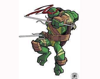Raphael Green Print