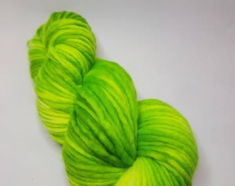 Hand dyed Merino yarn, Super Chunky weight, 200g, SOUR PATCH