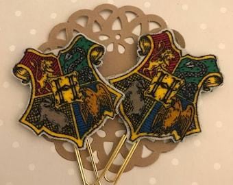 Harry Potter Inspired Hogwarts Crest Planner Clip or Bookmark