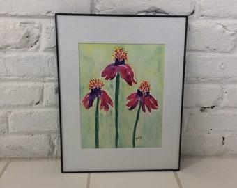 Echinacea Original Watercolor Painting - Coneflowers Painting, original watercolor painting, Aquarelle