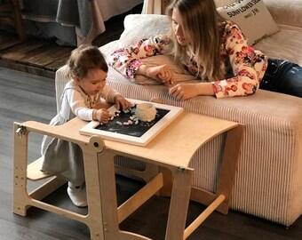 Little helper tower, Toddler Step Stool, Kitchen Helper, Montessori learning stool, Chilndren Stool, chair all-in-one