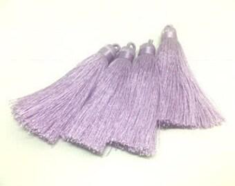 Lavender Purple Tassels, tassel earrings, Silk Tassels, 3 Inch 80mm Tassel, purple jewelry, tassel necklace, purple necklace, lavender