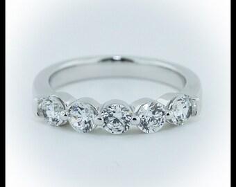Diamond Wedding Band 14k Gold Ladies Band Ring Name Only One Grande