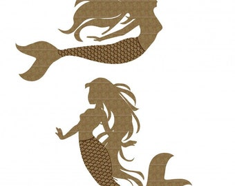Creative Embellishments Chipboard Mermaid Pair