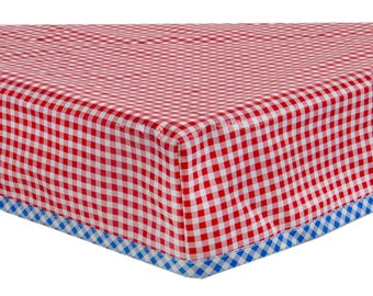 Custom Fitted Rectangular Oilcloth Tablecloth You Pick The Print