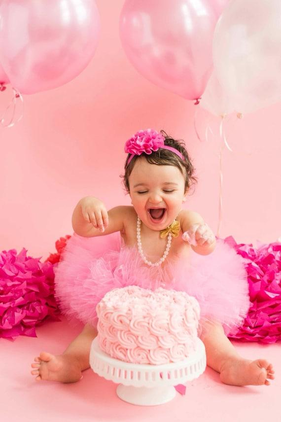 Smash Cake Outfit Taffy Pink Set Tutu And Headband Newborn