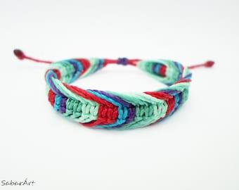 Teens bracelet, macrame bracelet, beach bracelet, surfer bracelet, colourful bracelet, bff bracelet, teenager bracelet, wristband