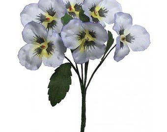 Czech Republic Millinery Fabric Pansy Pansies Flowers Lavender NFC048LB