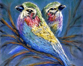 Lilac Breasted Roller Birds by Barney Napolske, Artist