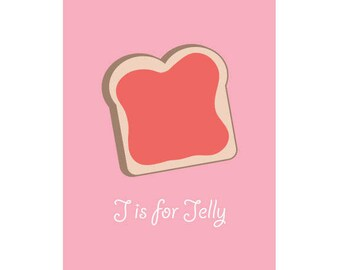J is for Jelly, Alphabet Letters, Peanut butter and Jelly Sandwiches, Lunch, Bread, Toast, Breakfast