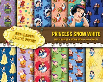 Disney Snow White Princess  Digital Paper
