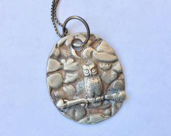 new sterling owl pendant