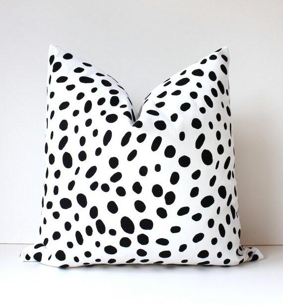 Spotted Black Amp White Decorative Designer Pillow Cover Accent