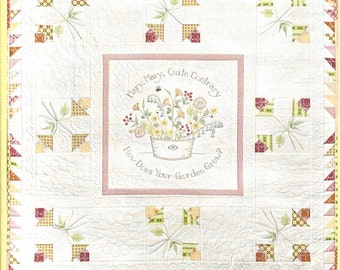 Crabapple Hill Studio - How Does Your Garden Grow - Embroidery Crayon Tint Quilting - Pattern