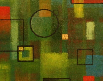 """Acrylic painting on gessobord, 8"""" by 8"""" by 7/8"""". Decorative painting"""