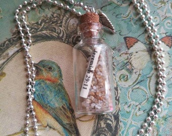 Message in a bottle necklace (Jeremiah 29:11)