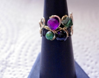 Renaissance Ring With Multi Stone Setting