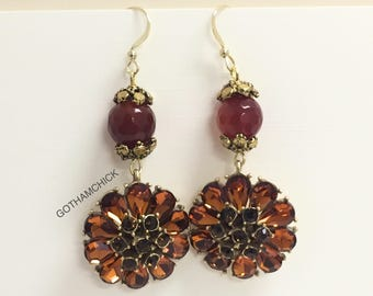 Red Sunset Sparkle Earrings