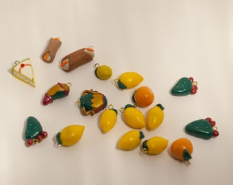 Typical Sicilian pendants made of Fimo