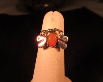Delicate Little Sterling Silver Butterfly Ring - 6