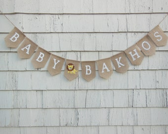 Lion Baby Shower Decorations, Lion Baby Banner, Custom Name Banner, Personalized Baby Banner, Custom Baby Banner, Safari Baby Shower Banner