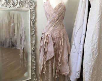 Boho wedding dress rose,bridal gown rose,beach wedding dress rose,open back wedding dress,boho wedding blush,rustic wedding dress, tatt