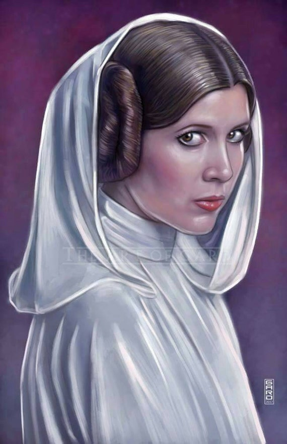 Princess Leia Organa from A New Hope High Quality Art Print