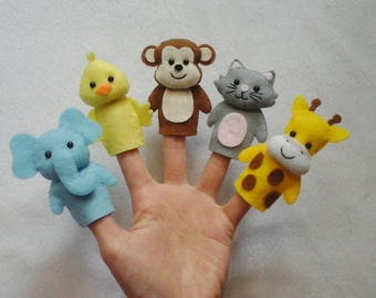 Personalized animal finger puppets