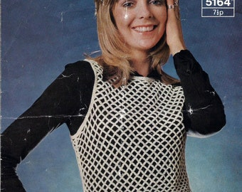 Instant Download - PDF- Lovely lace Vest Top  Crochet Pattern (AD27)