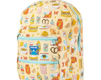 Vintage Treat Big Pocket Backpack