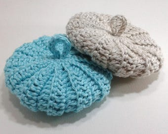 Tawashis cotton 9 cm duo Greige-Blue Lagoon