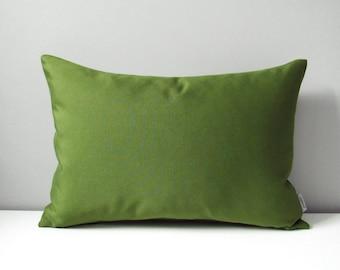 Olive Green Sunbrella Pillow Cover, Decorative Outdoor Pillow Cover, Throw Pillow Cover, Palm Green Pillow Cover, Cushion Cover, Mazizmuse