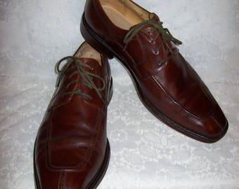 Vintage Men's Brown Leather Split Toe Oxfords by Pronto Uomo Size 10 1/2 Only 15 USD