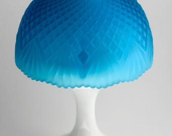 Westmoreland Fairy Lamp, FL63 Blue Pineapple